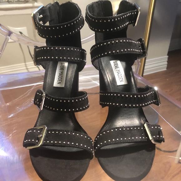 Steve Madden Womens Shani-S Chunky Heel Sandal Shoes
